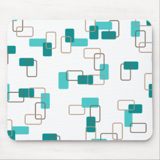 1970's Inspired Retro Geometric Teal Pattern Mousepads