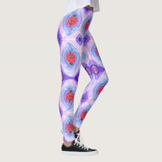 1970s LadyBug - Pink, Purple, Blue; art by EelKat Leggings