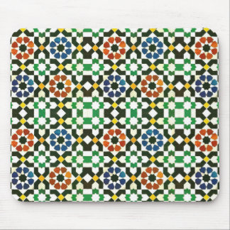 1970s Moroccan Color Pattern Mouse Pad