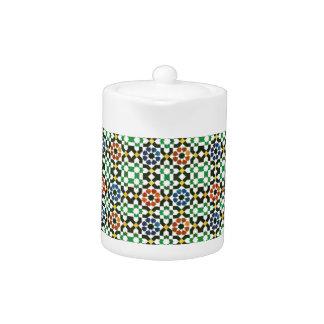 1970s Moroccan Color Pattern Teapot