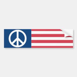 1970s Peace Flag Bumper Sticker