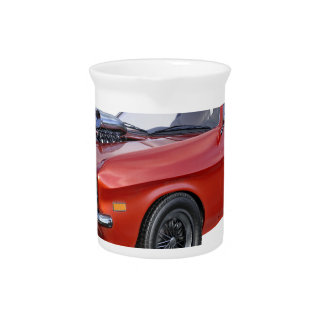 1970's Red Muscle Car Beverage Pitcher