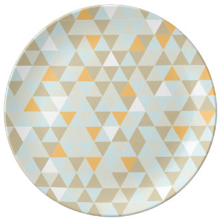 1970s Retro Abstract Triangle Plate