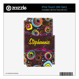 1970's Retro Circle IPod Touch 4th Gen Skin Sticke Decal For iPod Touch 4G
