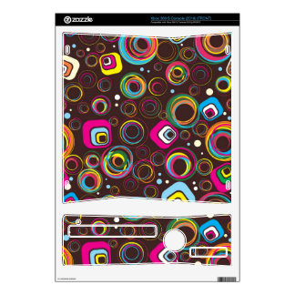 1970's Retro Circle X BOX 360 Game Console Skin Decal For Xbox 360 S