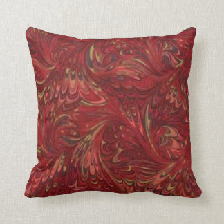 1970's Ruby Pattern Throw Pillow