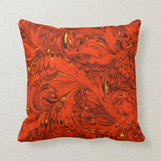 1970's Ruby Red Throw Pillow