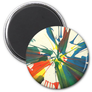 1970s Spin-Art Psychedelic Painting Refrigerator Magnet