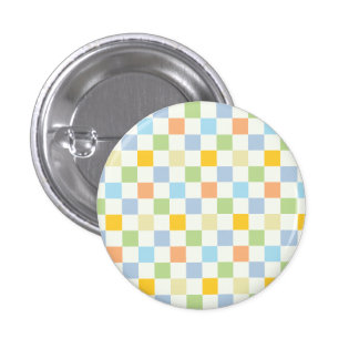 1970s Square Pattern 1 Inch Round Button