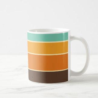 1970's Style Retro Stripe Mug
