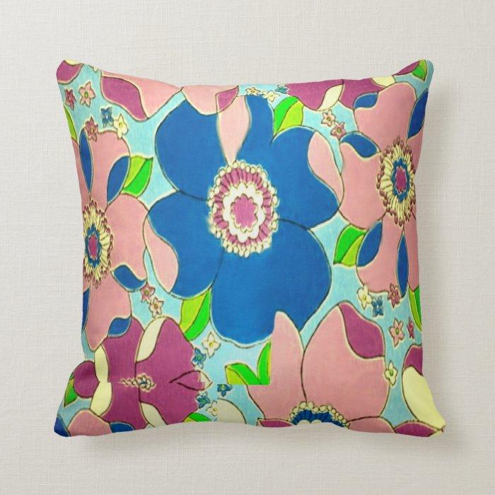 1970's Style Throw Pillow
