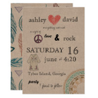 1970s themed wedding invitation