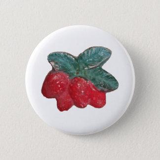 1970s Vintage Strawberry Plaque Item Button