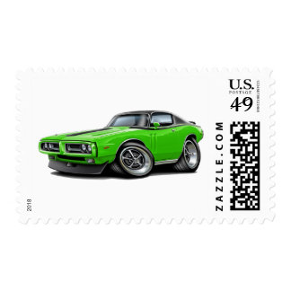 1971-72 Charger Lime-Black Top Car Postage