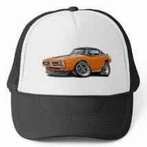 1971-72 Charger Orange-Black Top Car Trucker Hat