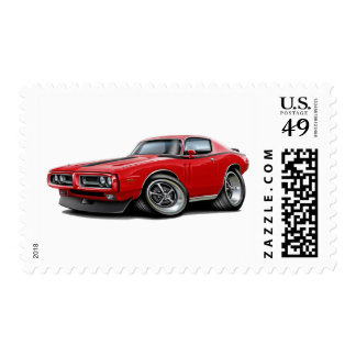 1971-72 Charger Red-Black Car Postage