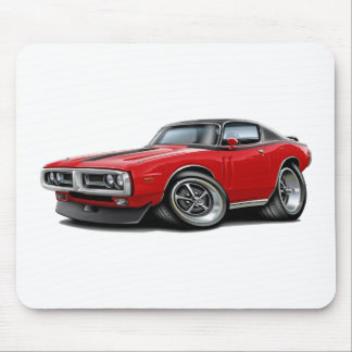 1971-72 Charger Red-Black Top Chrome Bumper Mousepad