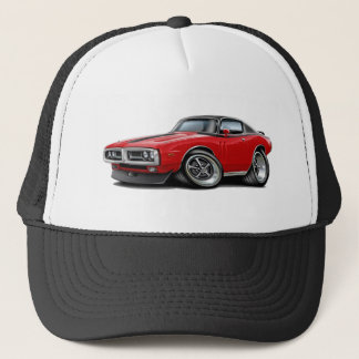 1971-72 Charger Red-Black Top Chrome Bumper Trucker Hat