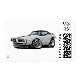 1971-72 Charger White-Black Top Car Postage