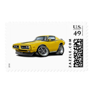 1971-72 Charger Yellow-Black Car Postage