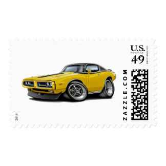1971-72 Charger Yellow-Black Top Car Postage