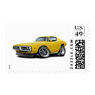 1971-72 Charger Yellow Chrome Bumper Postage