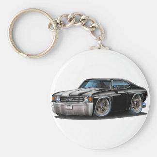 1971-72 Chevelle Black-White Car Keychain