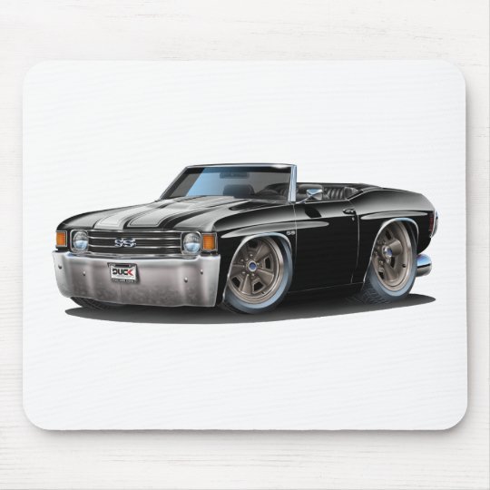 1971-72 Chevelle Black-White Convertible Mouse Pad