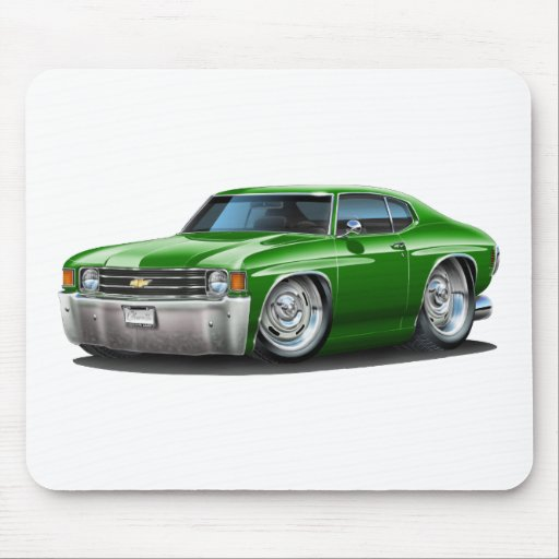 1971-72 Chevelle Green Car Mouse Pads