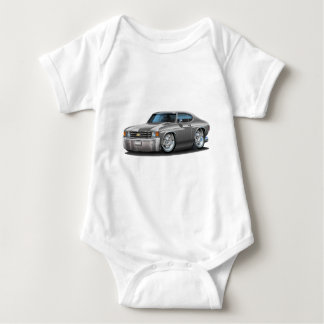 1971-72 Chevelle Grey Car Baby Bodysuit