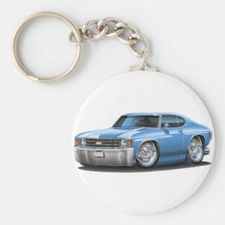 1971-72 Chevelle Lt Blue Car Basic Round Button Keychain