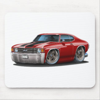 1971-72 Chevelle Maroon-Black Car Mouse Pads