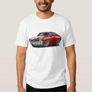 1971-72 Chevelle Maroon-White Car T-Shirt