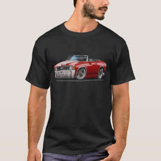 1971-72 Chevelle Maroon-White Convertible T-Shirt