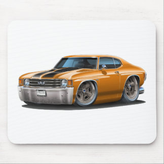 1971-72 Chevelle Orange-Black Car Mousepad