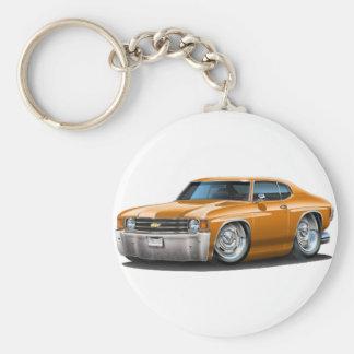 1971-72 Chevelle Orange Car Basic Round Button Keychain