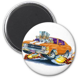 1971-72 Chevelle Orange-White Car 2 Inch Round Magnet