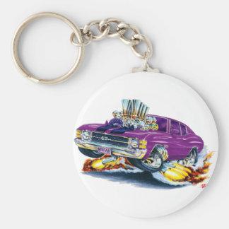 1971-72 Chevelle Purple-Black Car Key Chains