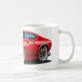 1971-72 Chevelle Red-Black Car Classic White Coffee Mug