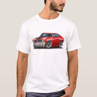 1971-72 Chevelle Red-Black Car T-Shirt