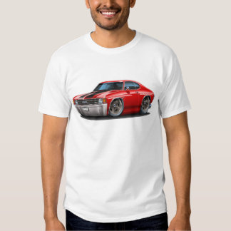 1971-72 Chevelle Red-Black Car Tee Shirt