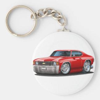 1971-72 Chevelle Red Car Basic Round Button Keychain