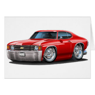 1971-72 Chevelle Red Car Greeting Card