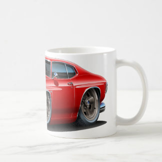 1971-72 Chevelle Red-White Car Coffee Mug