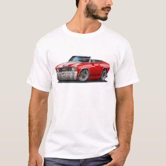 1971-72 Chevelle Red-White Convertible T-Shirt