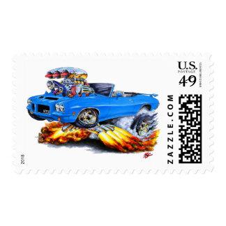 1971-72 convertible azul de GTO Sellos