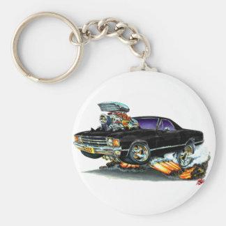 1971-72 El Camino Black Truck Basic Round Button Keychain