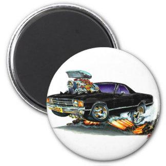 1971-72 El Camino Black Truck Magnet