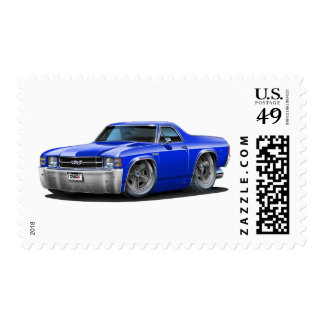 1971-72 El Camino Blue Truck Postage Stamps