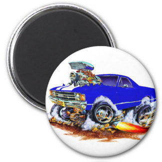 1971-72 El Camino Blue-White 4x4 Monster Truck Magnet